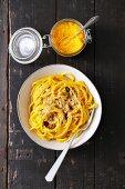 Pasta with pumpkin pesto