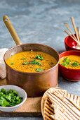Curried Pumpkin and Red Lentil Soup