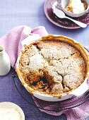 Butterscotch, date and Coconut self-saucing pudding