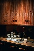 Café Kava an der Washington Street in Manhattan, New York, USA