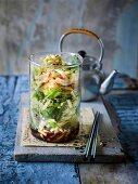 Japanese ramen in a jar