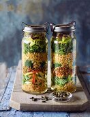 Superfood lunch in a jar