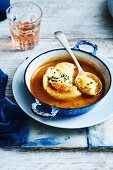 Double baked crab souffle
