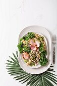 Hoppin John (rice with beans, kale and ham), USA