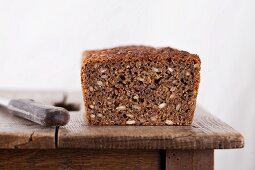 Danish wholegrain wheat bread with green kernels, linseed and barley malt