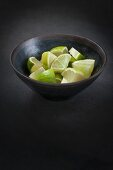 Bowl of Fresh Lime Slices