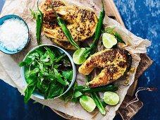 Thai-spiced salmon cutlets