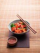 Garnelen in würziger Chilisauce (Asien)