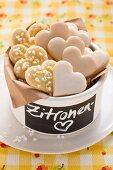 Lemon shortbread hearts