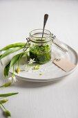 Salsa verde with wild garlic