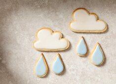 April: Cloud and raindrop cookies
