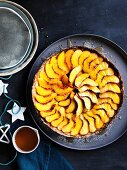Peach and buttermilk tart