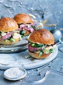 Roast Beef and Potato Salad Rolls