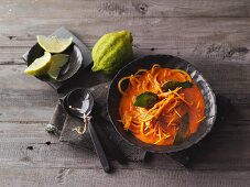 Peanut curry with pumpkin noodles