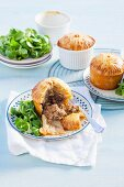 Small mince pies with a lambs lettuce salad (England)