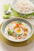 Vegetarian egg and vegetable fricassee