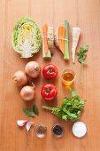 Ingredients for vegan vegetable stock