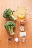 Ingredients for cream of broccoli soup