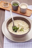 Risotto with fresh herbs