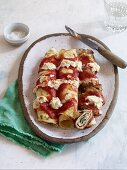Quick and easy spinach crespelle with ricotta