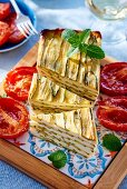 Courgette terrine with creamy goat's cheese