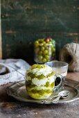 A gooseberry and mascarpone dessert