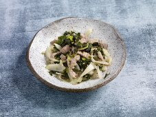 Quick and easy veal dish with fennel and Swiss chard