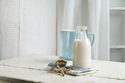 Vegan milk, soy milk