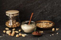 Hazelnuts, ground almonds and nut nougat cream