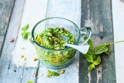 Pea pesto with mint