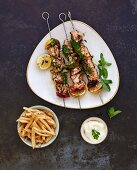 Shish Taouk (marinated chicken skewers, Lebanon)