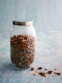 Three-grain chocolate granola with dried cranberries