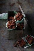 Avocado and chocolate muffins with Greek yoghurt