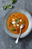 Tomato soup with pine nuts