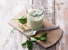 Yoghurt and mustard dressing