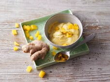 Mango and curry dip