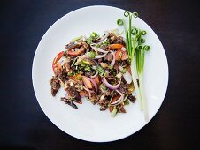 Thai beef with onion and vegetables