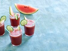 Watermelon juice with cucumber