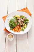 Spring roll salad with pork (Vietnam)