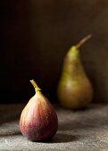 Fresh fig and pear