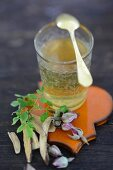 Moringa and licorice tea