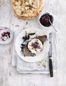 Aronia berry chutney, served with cheese and flatbread