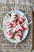Strawberry and mascarpone ice lollies