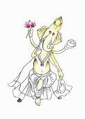 Asparagus as a Ganesha (illustration)