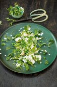 Three pea salad with potatoes