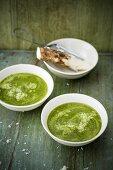 Winter greens soup