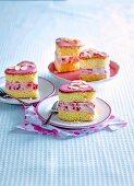 Starwberry Sponge Ice-Cream Sandwiches