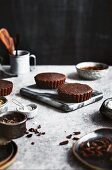 Paleo chocolate tartlets