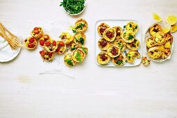 Five ways for mini Quiches