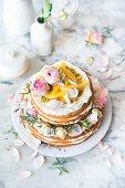 Zitrustorte Queen Victoria Style mit Lemon Curd und Mango